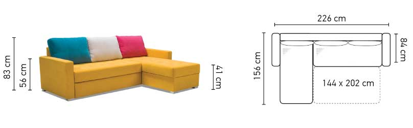 Twist St Sectional Sofa Bed